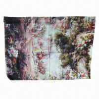 China Mercerized Wool Pashmina Printed Scarf/Shawl on sale