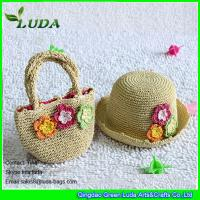 Best LUDA handmade kids handbags paper straw crochet hats and handbags wholesale