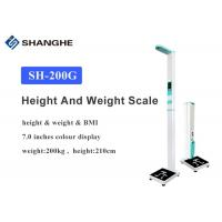 Best 200kg Body Weight And Height Scale Voice Broadcast BMI Health Analyzer 0.5cm / 0.1cm Accuracy wholesale