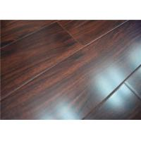 China AC4 Medium Gloss Wooden Cherry DIY Laminate Flooring With Double Click wholesale