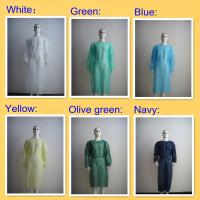 China Non Woven Disposable Operating Gowns Multicolor With Long Sleeves on sale