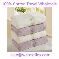 China 100% cotton satin silk ribbon embroidery soft face towel on sale