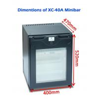 China Single Door Commercial Hotel Mini Bar Refrigerator Electric For Home / Car on sale