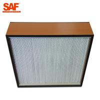 Cheap Deap Pleated Cleanroom Hepa Filter With Paper Or Aluminum Foil Separater for sale