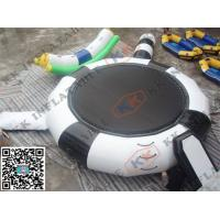 Best 4m Dia Black Inflatable Water obstacle course Toys waterproof For Sea wholesale