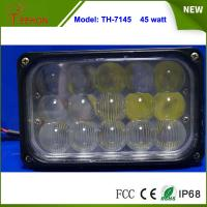 "Best 7"" Rectangular 45W Offroad Vehicle LED Conversion Work Light Driving Headlamp wholesale"