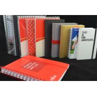 Best Red Recycled Custom Paper Notebooks , Spiral Bound Notebooks With Elastic Band wholesale