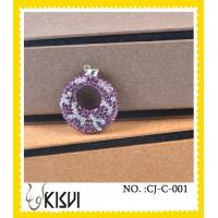 Best Elegant designs new fashion purple shamballa handcrafted crystal jewelry for gift wholesale
