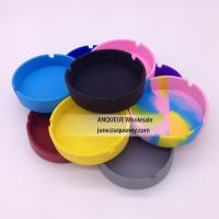 China Cheapest Round Ashtray, High quality Silicone Cigarette Ashtray on sale