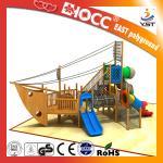 Best Amusement Park Kids Wooden Pirate Ship , Wooden Outdoor Play Equipment wholesale