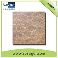 Best Wood mosaic wall tiles with rhombic shape wholesale