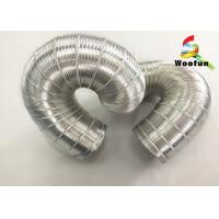 Best 3m Length Silver Expandable Insulated Flexible Semi Rigid Aluminum Pipe wholesale
