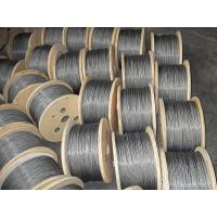 China Dia 6mm 304 ASTM Galvanized Steel Wire Rope , 1*19 1570MPA - 1960MPA on sale