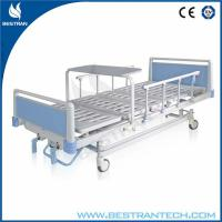 China Cold - Rolled Steel Plate Manual Medical Hospital Beds , Foldable Dinning Board on sale