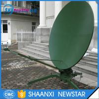 China 2.4m c/ku band dual reflectors TxRx manual portable parabolic satellite dish antenna on sale
