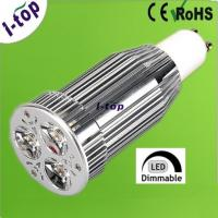 China 3*3W High Power Dimmable LED Spot Lamps Replacement Bulbs with Heatsink Gu10 400 Lumens on sale