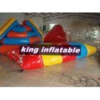 Best Red / Yellow / Blue 0.9mm PVC Inflatable Water Toys / Saturn Slide With Blob Ball wholesale