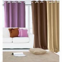 Buy cheap 100% polyester blackout window curtain with 8 grommets from wholesalers