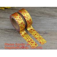 Best foil tape custom printed decorative washi foil tape,Assorted Designs Christmas Washi Masking Tape,Logo Printed Gold Foil wholesale