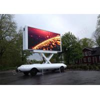 China 5mm Pixel Pitch Mobile Trailer LED Display Iron Cabinet Materials Logo Printed on sale