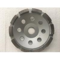 Best Silver Grey Sintered Single Diamond Cup Wheel , Marble Diamond Cup Grinding Wheel  Silver Brazed wholesale