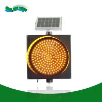 Best All day flashing  solar traffic warning light led 200mm road light signal wholesale