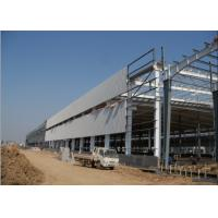 China PU Panel EPS Roof H Shaped Q235b Steel Structure Workshop on sale