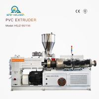 Best HSJZ-80/156 Plastic Conical Twin Screw Extruder Machine| Plastic PVC PP PE Extruder wholesale