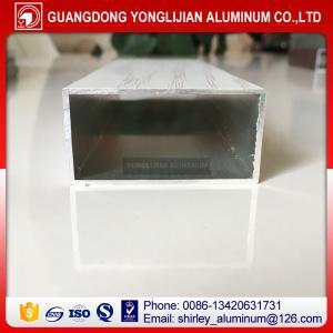 China Powder coated wood grain aluminum rectangular tubes from China,aluminum square tube sizes on sale