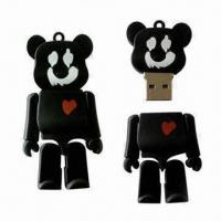 Best USB Flash Stick with Rubber Cartoon Design and 1 to 32GB Memory Capacity wholesale