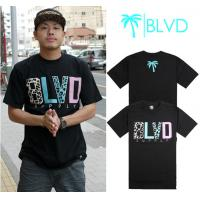 Best Wholesale Newly Men's BLVD active top designer round collar short sleeve hip-hop T-shirt wholesale
