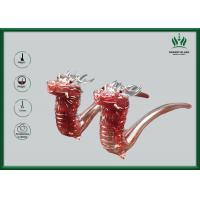 Buy cheap Red Leading Glass Smoking Water Pipe Bubbler 9 Mm Glass Thickness For Male from wholesalers
