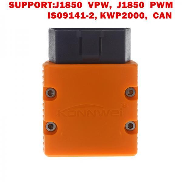 Cheap KONNWEI KW902 Bluetooth Diagnostic Scanner Elm327 Obd2 Original Bluetooth 5 Colors for sale