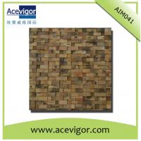 Best Mosaic decoration in rustic antique wood for indoor wall wholesale