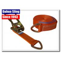 China D Ring Polyester Webbing Ratchet Tie Down Straps Load Binder Double J Hook on sale