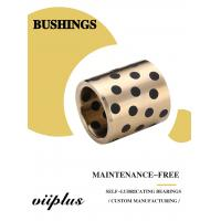 Best C86300 430B Manganese Cast Bronze Flanged Graphite Bushing Bearing & Plate Oil Grooves wholesale