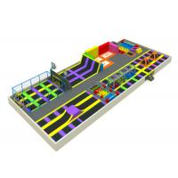 China Large Inside Trampoline Park , Playland Trampoline With Multiple Products on sale