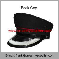 Wholesale Cheap China Military Silver Thread Color Army Police Peak Service Cap