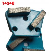 China Trapezoid Concrete Metal Bond Segments Grinding Scraper Pads for Concrete Floor Used for Diamatic Grinder on sale