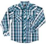 China Unique design childrens clothing cotton plaid boys shirt, plaid shirts long sleeve on sale