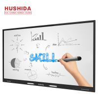 China HUSHIDA 65 inch capacitive touch screen 4mm tempered glass interactive whiteboard for intelligent class on sale