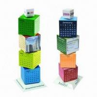 Best Promotional Building Blocks Calendars, Customized Colors are Accepted wholesale