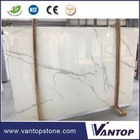 Best Calacatta White Artificial Marble Slab Countertop Dining Table Top wholesale
