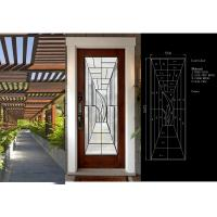Best Primed White Decorative Panel Glass  For Doors , Sidelights , Transoms wholesale