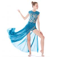 Best Stretchy Mesh Sleeveless Maxi Dress Lyrical Dance Costumes For Competition wholesale