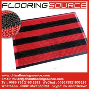 China Vinyl Z web floor mat wet area non-slip drain water and scrape dirt door mat on sale