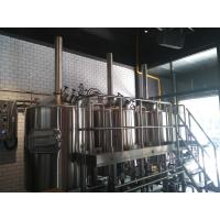 Quality Small Brew Pub Brewing Equipment , Steam/ Electric/ Direct Fired Heating Available for sale