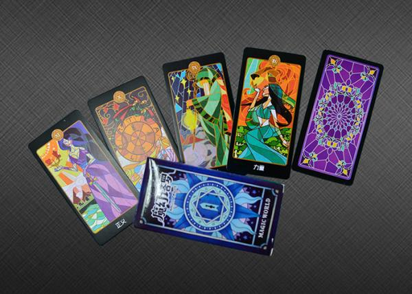 Cheap PMS/CMYK Fantastic 300gsm Paper Psychic Tarot Cards for sale