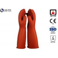 Best Rubber Insulating Electrical Safety Gloves Voltage Rating AC 7500 V Class 1 wholesale