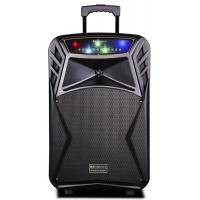 Buy cheap 45 Watt Outdoor Rechargeable Battery Trolley Speaker System With Led Lights product